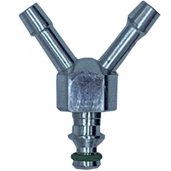 Y Shaped 2 way leak off connector to suit VDO / Siemens diesel injectors