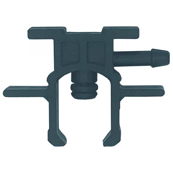 90 deg 1 way clip on leak off connector to suit Delphi diesel injectors