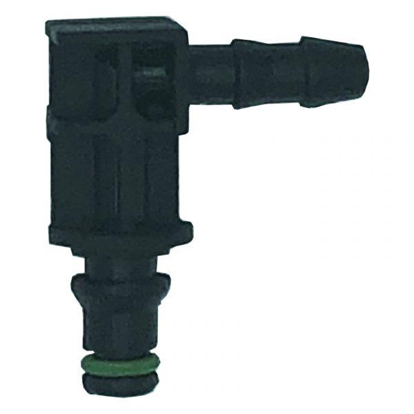 90 deg 1 way lock leak off connector for Delphi & Renault diesel injectors